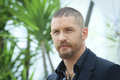 Tom Hardy. Actor Tom Hardy attends the 'Mad Max : Fury Road' Photocall during the 68th annual Cannes Film Festival on May 14, 2015 in Cannes, France royalty free stock photos