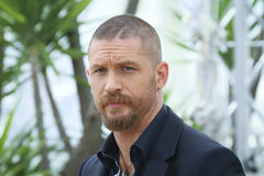 Tom Hardy. Actor Tom Hardy attends the 'Mad Max : Fury Road' Photocall during the 68th annual Cannes Film Festival on May 14, 2015 in Cannes, France Royalty Free Stock Images