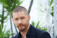 Tom Hardy. Actor Tom Hardy attends the 'Mad Max : Fury Road' Photocall during the 68th annual Cannes Film Festival on May 14, 2015 in Cannes, France Stock Image