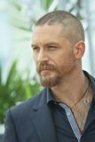 Tom Hardy. Actor Tom Hardy attends the 'Mad Max : Fury Road' Photocall during the 68th annual Cannes Film Festival on May 14, 2015 in Cannes, France royalty free stock image