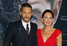 Tom Hardy and Kelly Marcel stock images