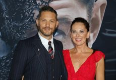 Tom Hardy and Kelly Marcel royalty free stock photography