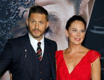 Tom Hardy and Kelly Marcel stock photo