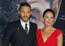 Tom Hardy and Kelly Marcel royalty free stock images