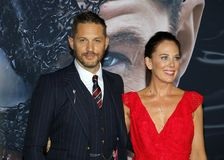 Tom Hardy and Kelly Marcel stock image