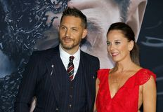 Tom Hardy and Kelly Marcel royalty free stock image