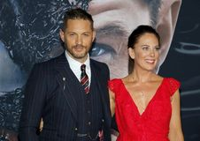 Tom Hardy and Kelly Marcel royalty free stock photos