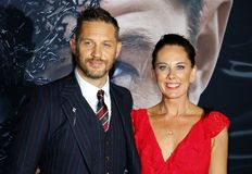 Tom Hardy and Kelly Marcel royalty free stock photo