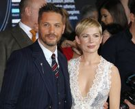 Tom Hardy and Michelle Williams stock photo