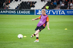 Tomáš Hübschman (Shakhtar) warming up Royalty Free Stock Image