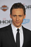 Tom Hiddleston. LOS ANGELES, CA - NOVEMBER 4, 2013: Tom Hiddleston at the US premiere of his movie Thor: The Dark World at the El Capitan Theatre, Hollywood Stock Photos