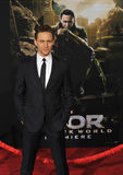 Tom Hiddleston. LOS ANGELES, CA - NOVEMBER 4, 2013: Tom Hiddleston at the US premiere of his movie Thor: The Dark World at the El Capitan Theatre, Hollywood Royalty Free Stock Photo