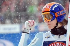 Tom Hilde. Ski Jumping World Cup in Zakopane, Poland, 27 january 2008 stock image