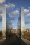 Tom himmel: Jersey City 9/11 minnesmärke på solnedgången som är ny - ärmlös tröja, USA Fotografering för Bildbyråer