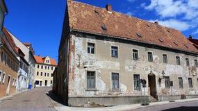 Tom historisk gammal stad av Freiberg Arkivbilder