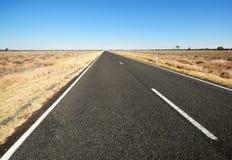 tom huvudväg Arkivfoton