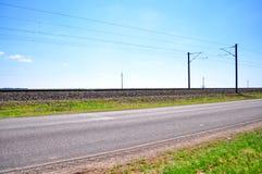 tom huvudväg Arkivfoto