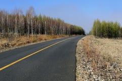 tom huvudväg Arkivbild