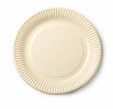 tom I white för maträtt Arkivfoto
