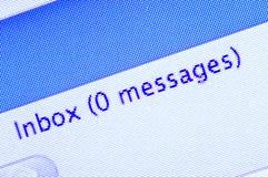 tom inbox Fotografering för Bildbyråer