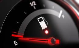 Tom indikator för bränslebehållare Arkivfoton
