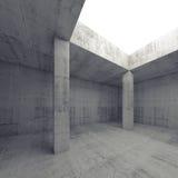 Tom inre för mörkerbetongrum med öppning vektor illustrationer