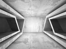 Tom inre för mörkerbetongrum Stads- bakgrund för arkitektur vektor illustrationer