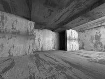 Tom inre för mörkt rum Konkreta gamla väggar Arkitektur Backg Fotografering för Bildbyråer