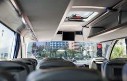 tom interior för buss Arkivbilder
