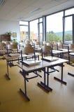 tom interior för klassrum Arkivbild