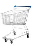 tom isolerad shopping för vagn Arkivbild