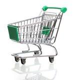 tom isolerad shopping för vagn Royaltyfria Foton