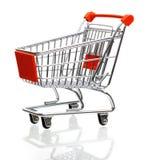 tom isolerad shopping för vagn Arkivfoton