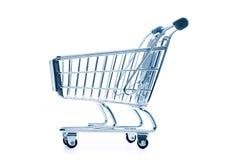 tom isolerad shopping för vagn Fotografering för Bildbyråer