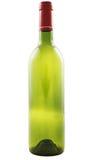 tom isolerad wine för flaska Arkivfoto
