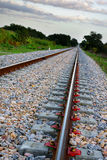 tom järnväg Arkivbild