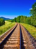 tom järnväg Fotografering för Bildbyråer
