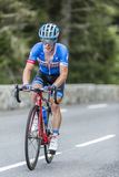 Tom-Jelte Slagter on Col du Tourmalet - Tour de France 2014 Stock Photos