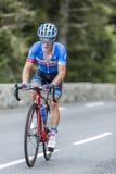 Tom-Jelte Slagter op Col. du Tourmalet - Ronde van Frankrijk 2014 stock foto's