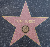 Tom Jones star. HOLLYWOOD,CA - OCTOBER 8,2015: Tom Jones star on Hollywood Walk of Fame in Hollywood, California. This star is located on Hollywood Blvd. and is Stock Images