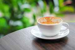 Tom kaffekopp Royaltyfri Bild