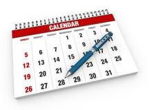 Tom kalender stock illustrationer