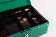 Tom kassaskrin med endast små mynt Fotografering för Bildbyråer