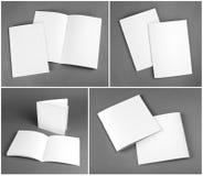 Tom katalog, broschyr, tidskrifter, bokåtlöje upp arkivbild