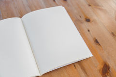 Tom katalog, tidskrifter, bokåtlöje upp arkivfoton