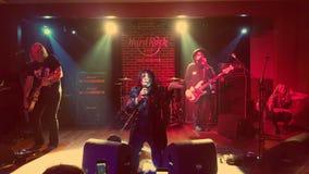 Tom Keifer met de band Cinderella Royalty-vrije Stock Foto