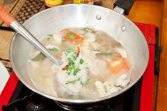Tom Kha Gai soup Royalty Free Stock Photography