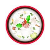 Tom Kha Gai  or Thai Chicken Coconut Milk Soup Stock Image