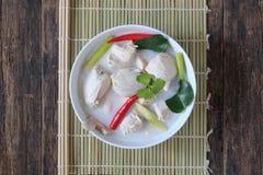 Tom Kha Gai.Traditional thai soup royalty free stock image