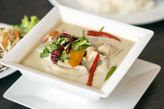 (tom kha kai)-chicken in coconut milk soup Stock Photography